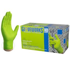 Gloveworks HD Green Nitrile Industrial Disposable Gloves