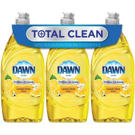 Dawn Total Clean Refreshing Lemon Twist (24oz, 3ct/pk)