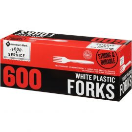 Heavy Weight White Plastic Forks (600 ct.)