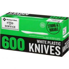 Heavy Weight White Plastic Knives (600 ct.)