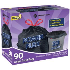 Power Flex 33-Gallon Drawstring Trash Bags (90 ct.)