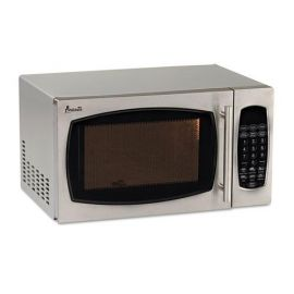 Avanti 0.9 Cubic Foot Capacity Stainless Steel Microwave Oven