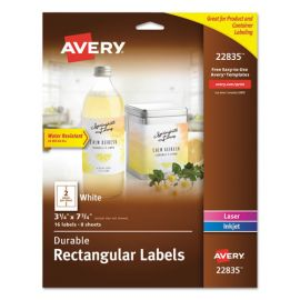 Avery® Durable Water-Resistant Wraparound Labels