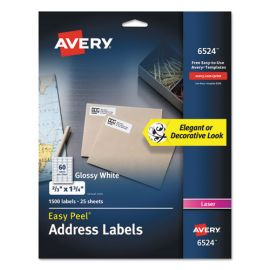 Avery® Glossy White Easy Peel® Mailing Labels