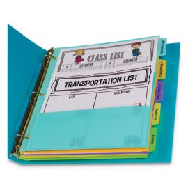 C-Line® 5-Tab Index Dividers with Multi-Pockets