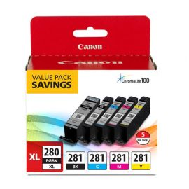 Canon® PGI-280 XL / CLI-281 5-Pack Ink