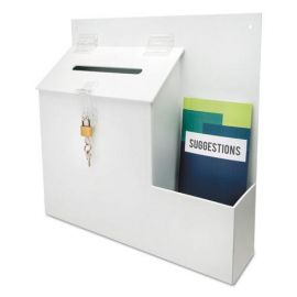 deflecto® Suggestion Box Literature Holder with Locking Top