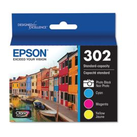 Epson® T302 Standard-Capacity Ink Cartridges