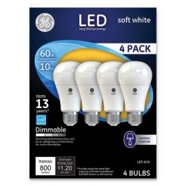 GE LED SW A19 Dimmable Light Bulb