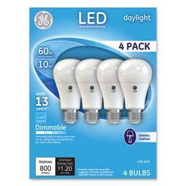 GE LED Daylight A19 Dimmable Light Bulb