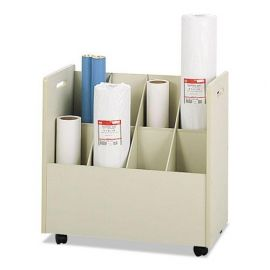 Safco® Laminate Mobile Roll Files