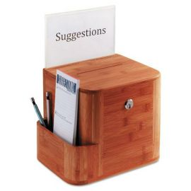 Safco® Bamboo Suggestion Boxes