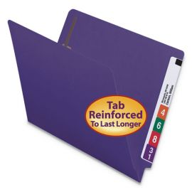 Smead® Heavyweight Colored End Tab Folders with Fasteners