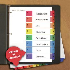 Universal® Deluxe Table of Contents Dividers for Printers