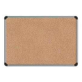 Universal® Deluxe Cork Board with Aluminum Frame