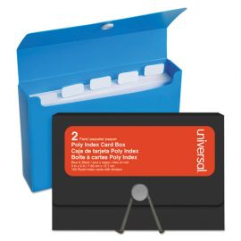 Universal® Poly Index Card Box
