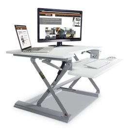 Victor® High Rise™ Height Adjustable Standing Desk with Keyboard Tray