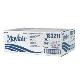 MAYFAIR® White Hard Wound Roll Towel 800'