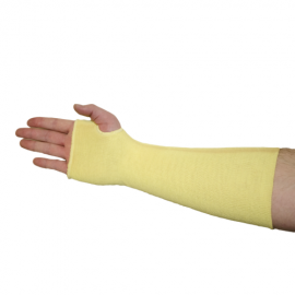 Double Ply Kevlar® Sleeve w/Thumb Hole - 18in