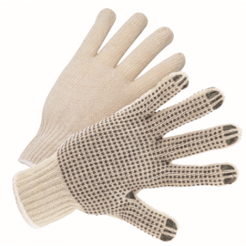 Ladies PVC Dotted String Knit Gloves